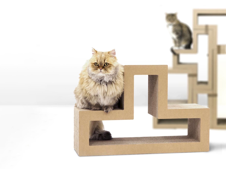 Katris Products Lynks Cat Scratcher Cat Tree Block Cat